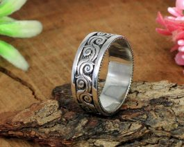 Solid Silver Textured Ring