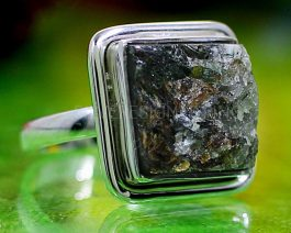 Astrophyllite Rough Stone Ring