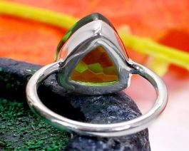 Peridot Sterling Silver Ring for Women