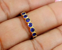 Ink Blue Sterling Silver Ring
