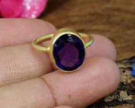Natural African Amethyst 925 Silver Ring