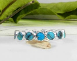 American Turquoise Eternity Ring