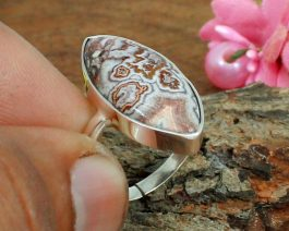Crazy Lace Agate Gemstone Ring