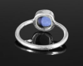 Blue Chalcedony Gemstone Stackable Ring