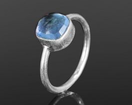 Stacking Blue Topaz Sterling Silver Ring