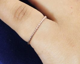 925 Twist Rope Band Ring