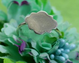 Plain Cloud Sterling Silver Ring