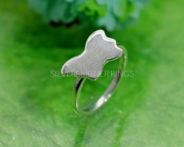 Butterfly Design Silver Ring