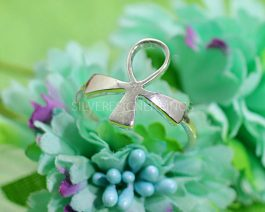 925 Bow Tie Silver Ring