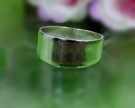 Wide Band Solid Silver Ring