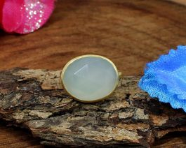 925 Sterling Silver Chalcedony Ring