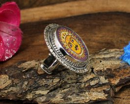 Lord Sun Printed Sterling Silver Ring