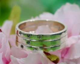 White CZ Ring Wide Band Ring