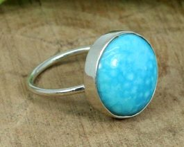 American Blue Turquoise Silver Ring
