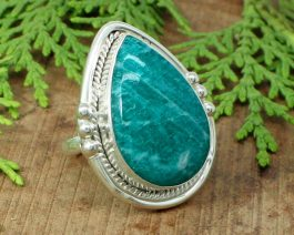 Natural Green Amazonite Handcrafted Ring