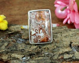 Handmade Crazy Lace Agate Ring