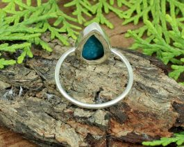 Natural American Turquoise Pear Ring