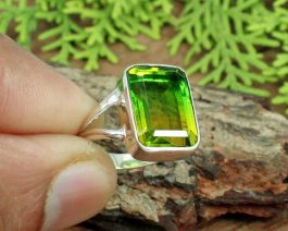 Bio Color Doublet Sterling Silver Ring