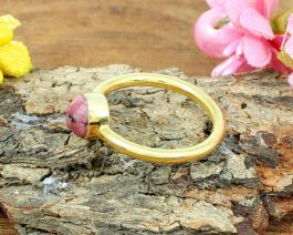 Round Rhodonite Stackable Ring