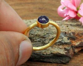 Purple Amethyst Hydro Stackable Ring