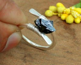 Wire Wrapped Silicon Ring