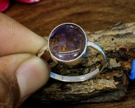 Cacoxenite Sterling Silver Ring