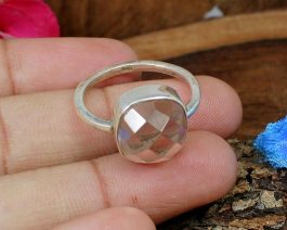 Champagne Quartz Handcrafted Ring
