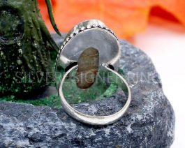 Natural Mother Of Pearl Gemstone Ring