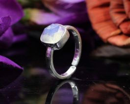 Opalite Hydro Sterling Silver Ring