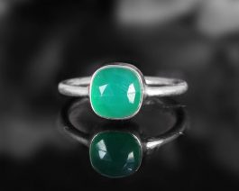 Stacking Green Onyx Ring