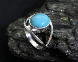 Turquoise Silver Ring for Men