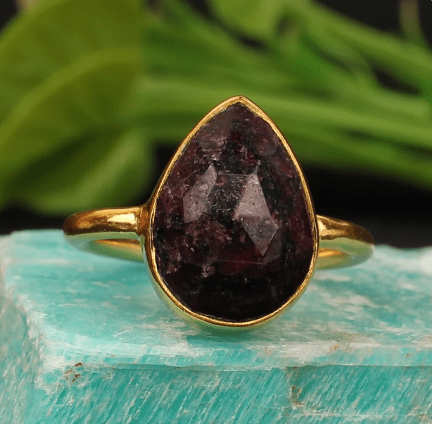Wholesale Eudialyte Gemstone Silver Ring
