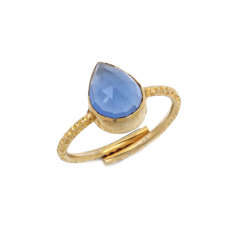 Wholesale 925 Silver Blue Chalcedony Ring
