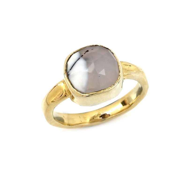 Dendrtitic Opal Silver Ring